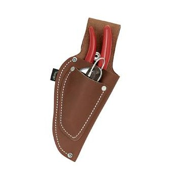 Leather Pistol Style Pruner Pouch - Knife Pocket