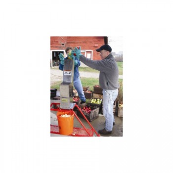 Grinding Apples w/ the 6 HDPE Grinder