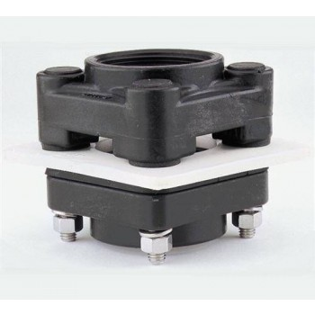 "Polypropylene Bolted ""Bottom Drain"" Tank Flanges - EPDM Gaskets"