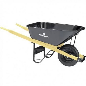 Heavy-Duty Steel Wheelbarrow