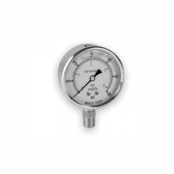 Dual-Scale Glycerin-Filled 2-1/2″ Gauges - Stainless Steel - LM