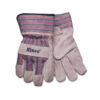 Kid's Cowhide Leather Palm Work Gloves