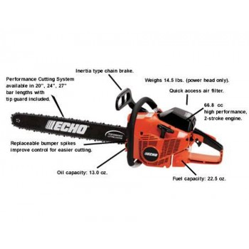 Echo CS-680 66.8 CC Chain Saw d