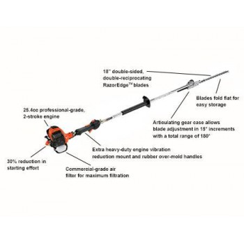 Echo HCA-266 25.4 CC Articulating Hedge Trimmer with i-30 Starter d