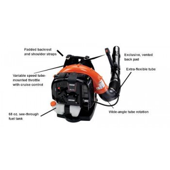 Echo PB-770T 63.3 CC Backpack Blower with Tube-Mounted Throttle d