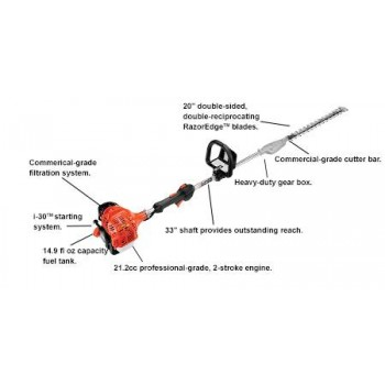 "Echo SHC-225 21.2 CC Hedge Trimmer with 33"" Shaft and i-30 Starter d"